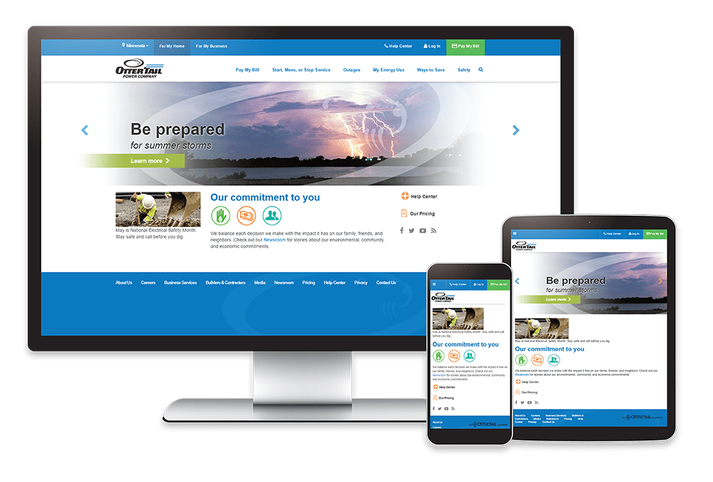 Onsharp OtterTail Power Company Website Redesign Project