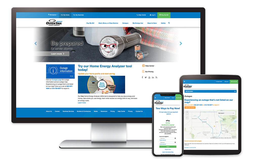 Onsharp Website Redesign for OtterTail Power Company